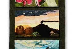 Tríptico Endémica (Teporingo, Colibrí y Vaquita...con orquídeas y hongos) — Betsy Segura