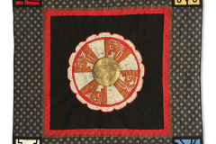 Mayan solar disc with the Mayan stamps of the Signal Family — Rosa Martha Girón Canónico