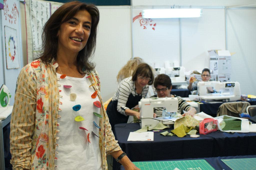 Cecilia Koppmann teaching a class